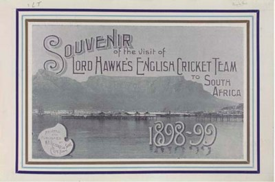 LORD HAWKE'S TOUR TO SOUTH AFR