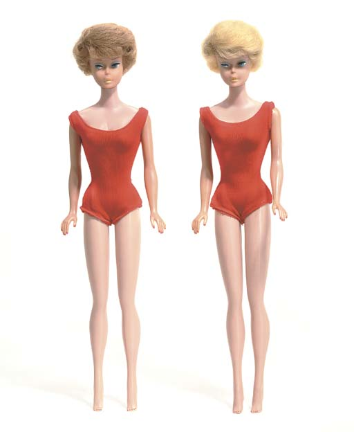 Two Bubble-cut Barbies