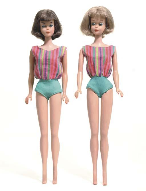Two American girl hair Barbie