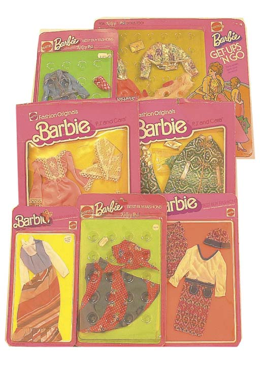 Barbie outfits 1970s