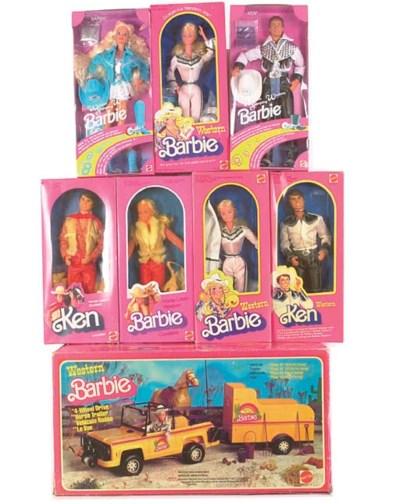 Western Barbie, Ken and Skippe