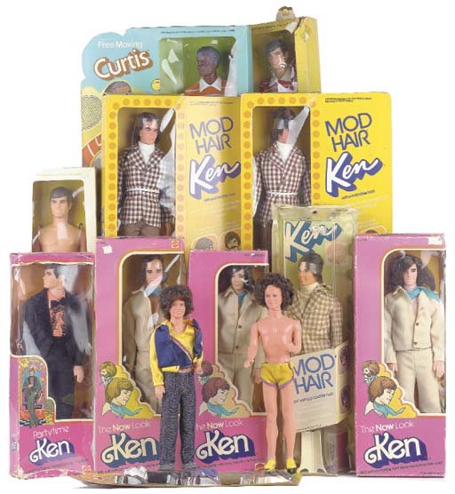 Three Mod Hair Kens No.4224
