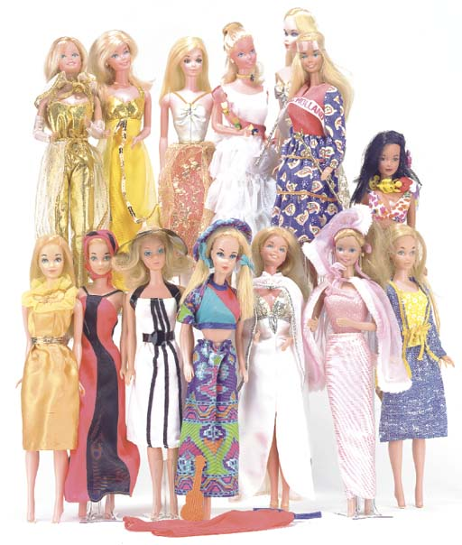 Late Barbie dolls