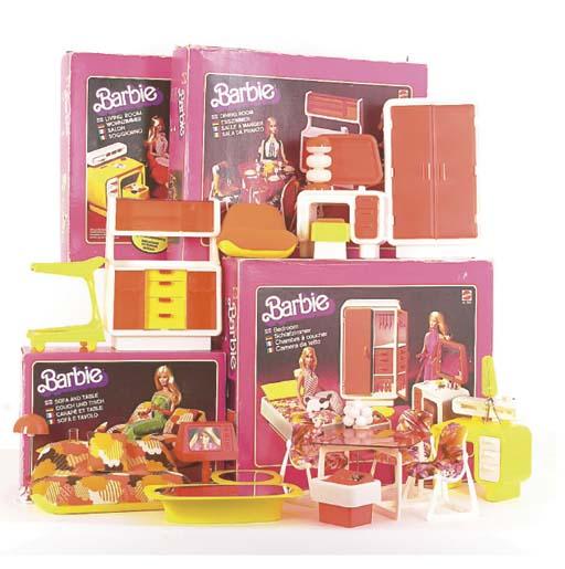 Barbie 1970s Furniture Sets