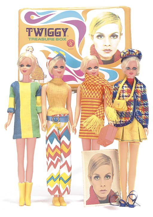 Four Twiggy dolls