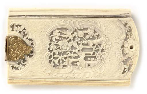 A FRENCH IVORY CARD CASE