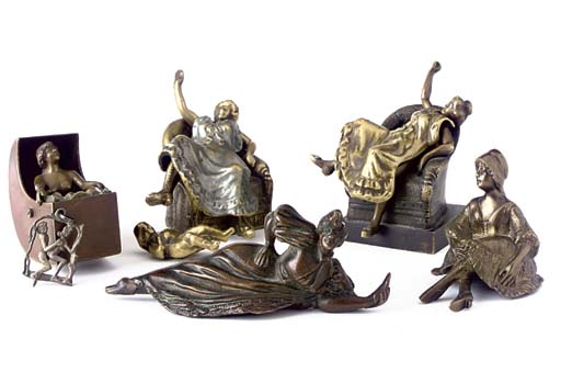 A COLLECTION OF BRONZE EROTIC