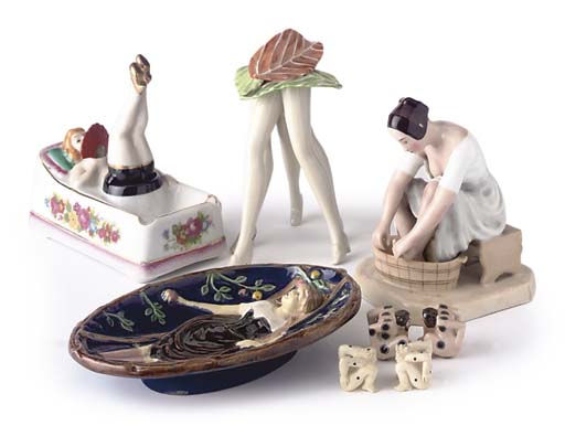 A COLLECTION OF EROTIC PORCELA