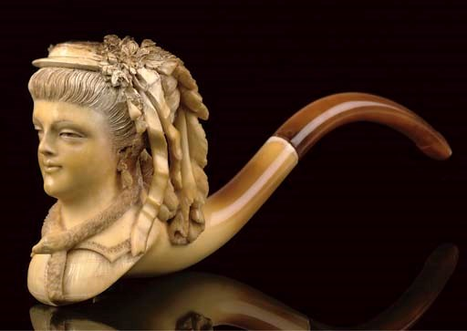 FOUR CASED MEERSCHAUM PIPES