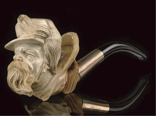 FOUR CASED MEERSCHAUM PIPES AN