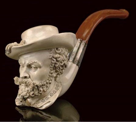 SIX CASED MEERSCHAUM PIPES AND