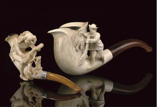 SEVEN CASED MEERSCHAUM PIPES O