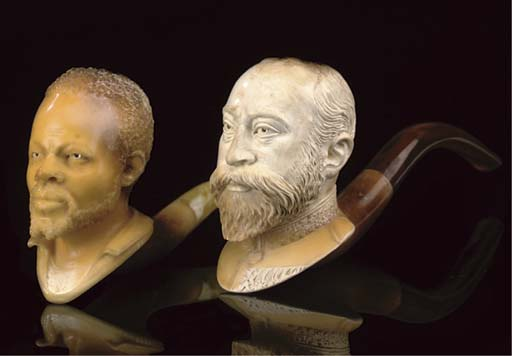 SIX CASED MEERSCHAUM PIPES OR