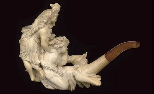 THREE CASED MEERSCHAUM PIPES