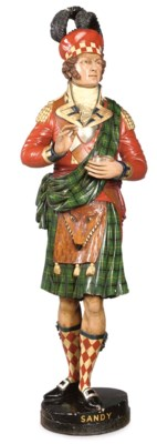 A VICTORIAN POLYCHROME CARVED