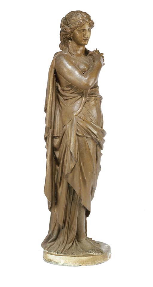 A FRENCH SPELTER FIGURE OF A C