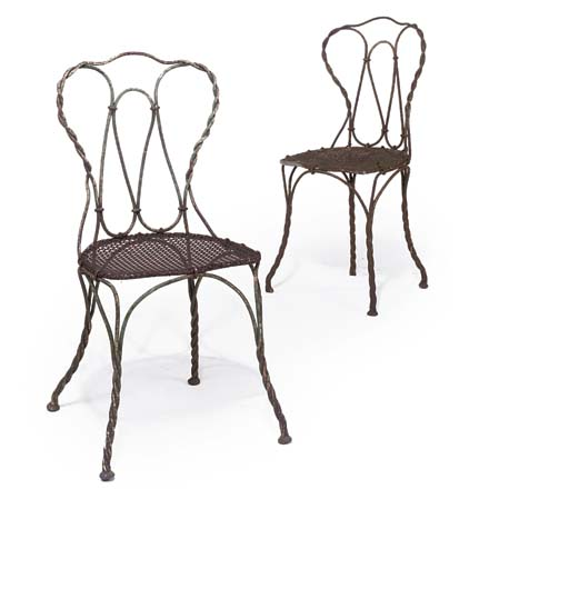A PAIR OF CONTINENTAL WIREWORK