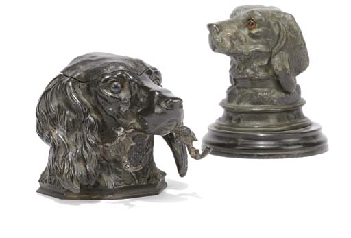 A FRENCH BRONZE INKSTAND