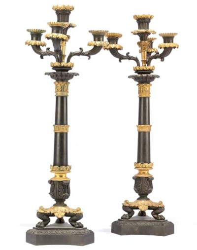 A PAIR OF LOUIS PHILIPPE BRONZ