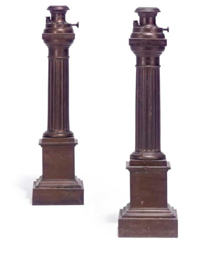 A PAIR OF FRENCH GILT METAL CA