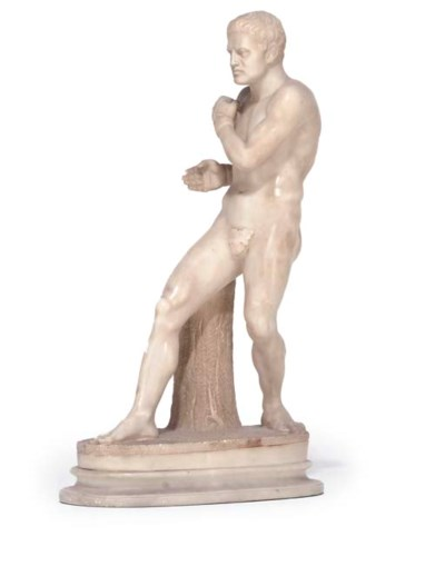 AN ITALIAN SCULPTED ALABASTER