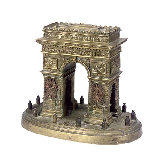 A FRENCH BRONZE OF THE ARC DE