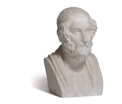 AN ITALIAN ALABASTER BUST OF H