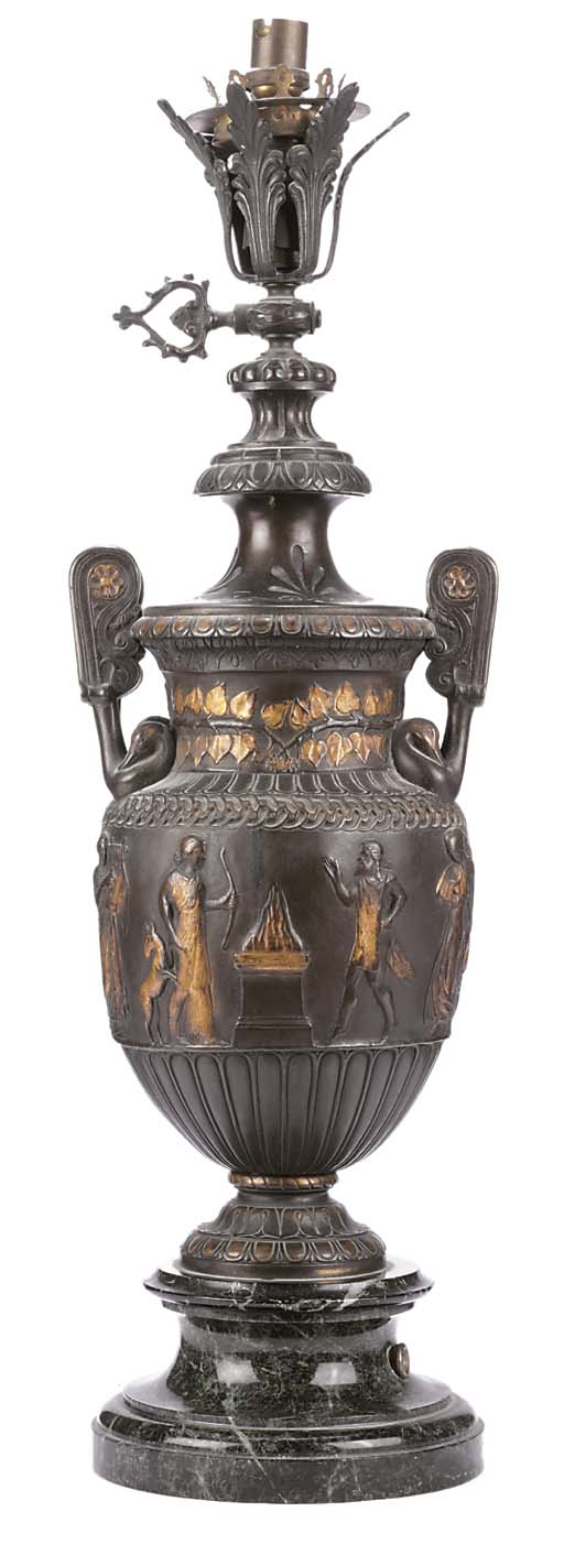 A FRENCH BRONZE TOWNLEY VASE T