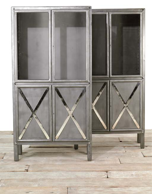 A PAIR OF POLISHED STEEL CABIN