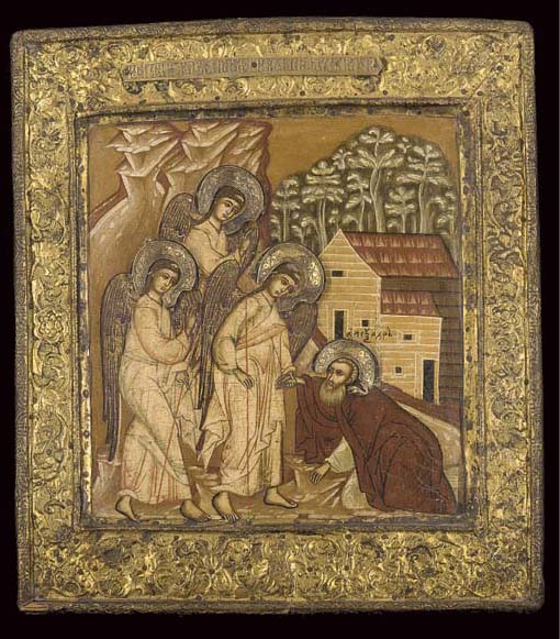 THE APPARITION OF THE OLD TESTAMENT TRINITY TO ST  ALEKSANDR