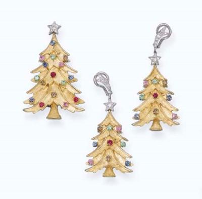 A MULTI-GEM 'CHRISTMAS TREE' S