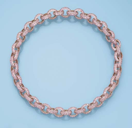 A PINK SAPPHIRE NECKLACE, BY M
