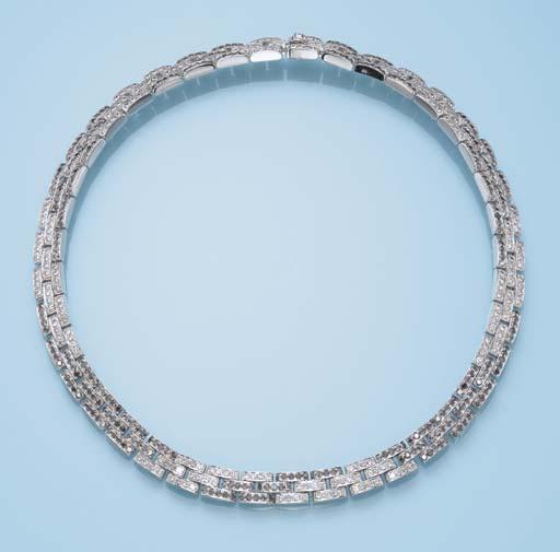 A DIAMOND 'PANTHER' NECKLACE,
