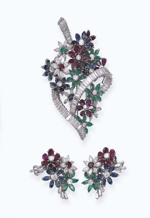 A DIAMOND AND MULTI-GEM SET