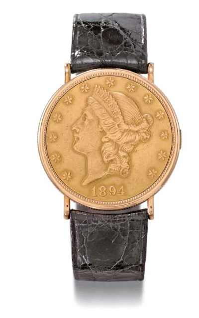 Piaget. An 18K gold coin wrist