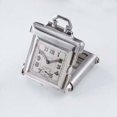 Rolex. An unusual silver purse