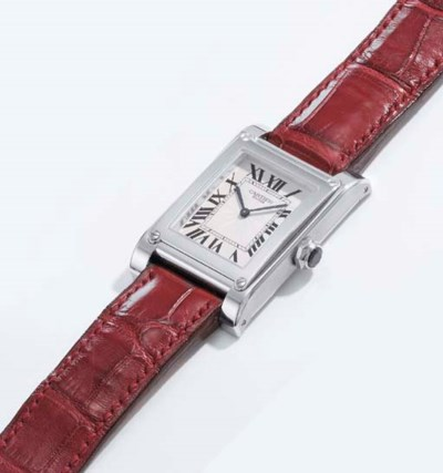 Cartier. A fine platinum recta