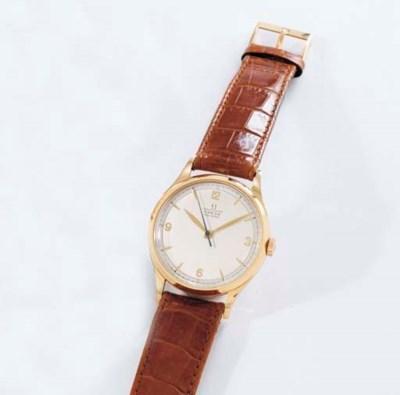 Omega. A fine 18K pink gold wr
