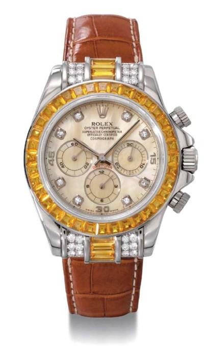 Rolex. A fine and rare custom-