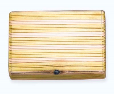 A GOLD CIGARETTE CASE, BY FABE