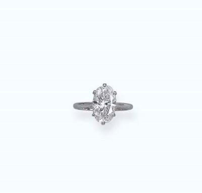 A DIAMOND SINGLE-STONE RING, M