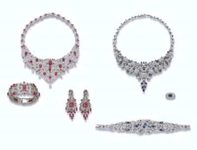A GROUP OF GEM-SET JEWELLERY