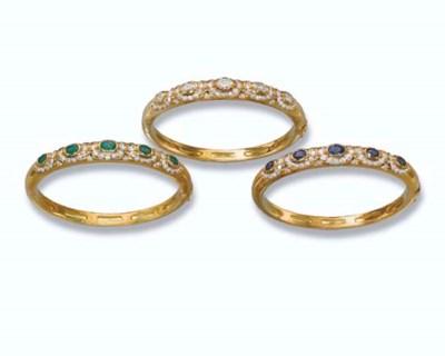 THREE DIAMOND AND GEM-SET BANG