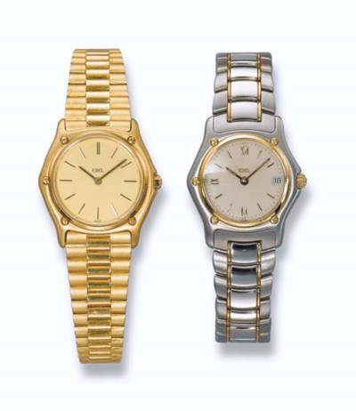 TWO LADY'S WRISTWATCHES, BY EB