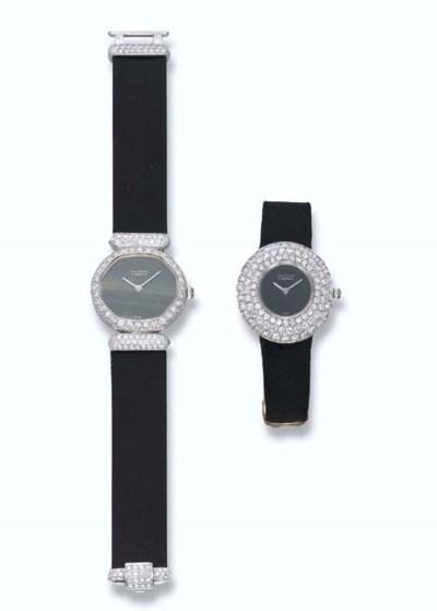 TWO LADY'S DIAMOND WRISTWATCHE