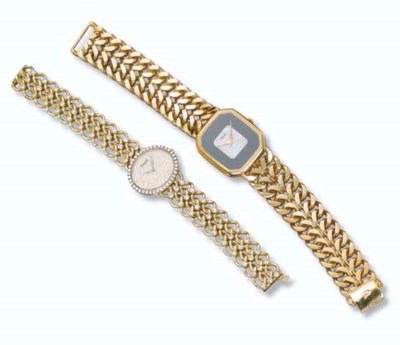 TWO DIAMOND WRISTWATCHES, BY P