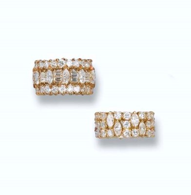 TWO DIAMOND ETERNITY RINGS, BY