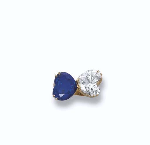A DIAMOND AND SAPPHIRE 'TOI ET