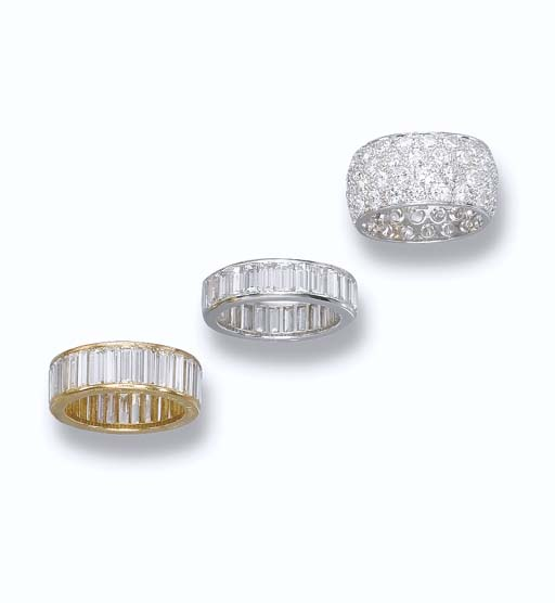 A DIAMOND ETERNITY RING, BY CA