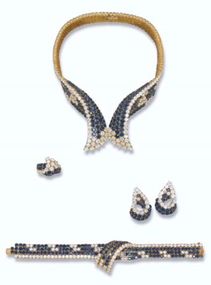A SAPPHIRE AND DIAMOND SUITE,